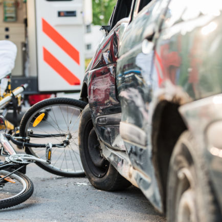 accident de la route à vélo