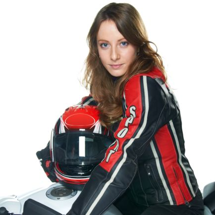 Equipement d'une femme motarde