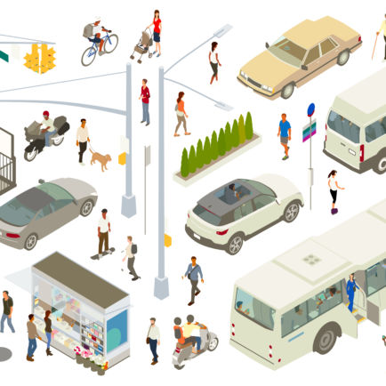 vivre ensemble : essor des mobilités durables, partage de l'espace public routier
